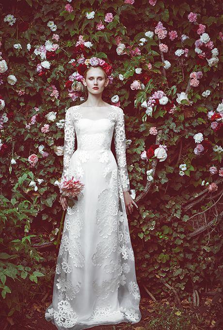 Wedding - Honor For Stone Fox Bride Wedding Dresses Fall 2015 Bridal Runway Shows Brides.com