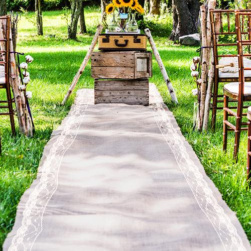 Свадьба - Wedding Aisle Runner with lace for your special day