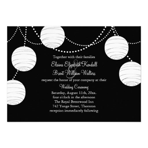 A black white party lanterns wedding invitation 2184342 weddbook a black white party lanterns wedding invitation stopboris Image collections