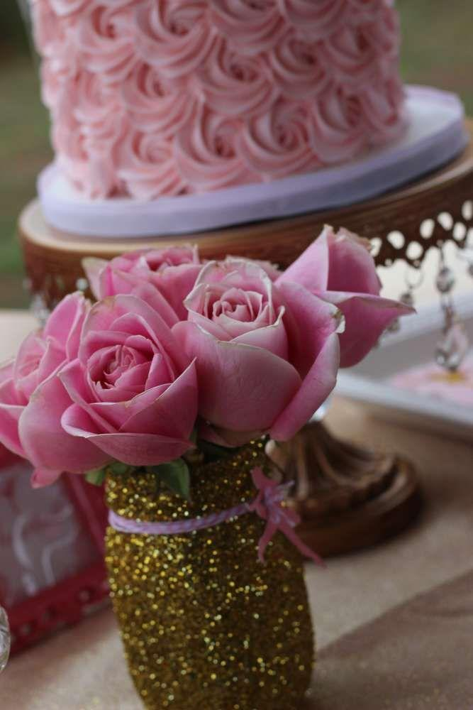 Wedding - Pink & Gold Ballerina Birthday Party Ideas