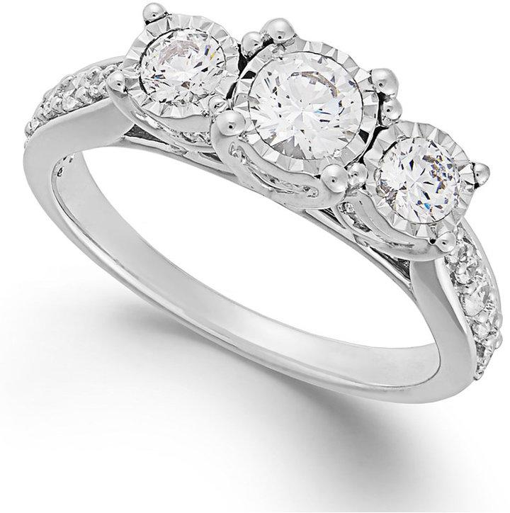 trumiracle 174 three ring in 14k white gold 1