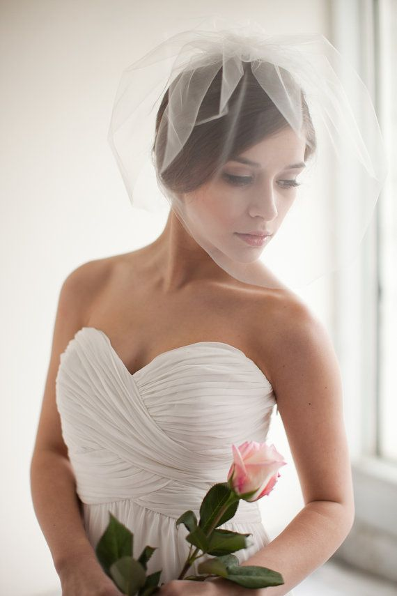 Double Layer Tulle Blusher Veil Birdcage Wedding Bridal Chloe Made To Order Style 7313