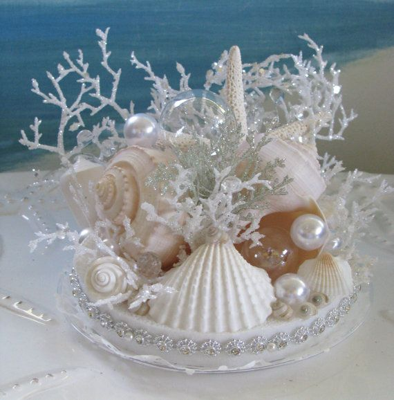 Coral Wedding Cake Topper