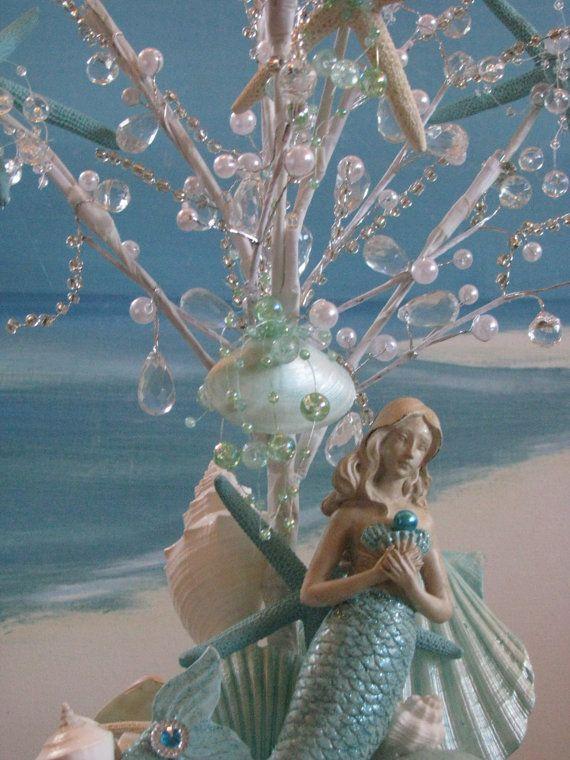 Mermaid seashell led light up beaded wedding centerpiece starfish mermaid seashell led light up beaded wedding centerpiece starfish coastal decor wedding seashell centerpiece junglespirit Gallery
