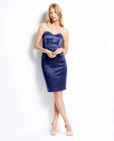 Свадьба - Duchess Satin Strapless Dress