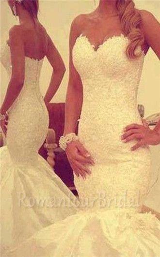 Wedding - Sexy Mermaid Wedding Dresses/Lace Wedding Dress/Lace Wedding Dress/Wedding Gown/Bridal Dress/Bridal Gown Country Wedding Dresses Beaded