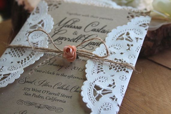 Rustic Burlap Lace Wedding Invitation Suite 2186150 Weddbook