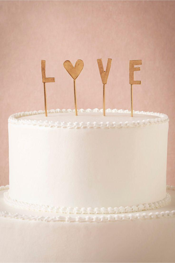 Wedding - L-O-V-E Cake Topper