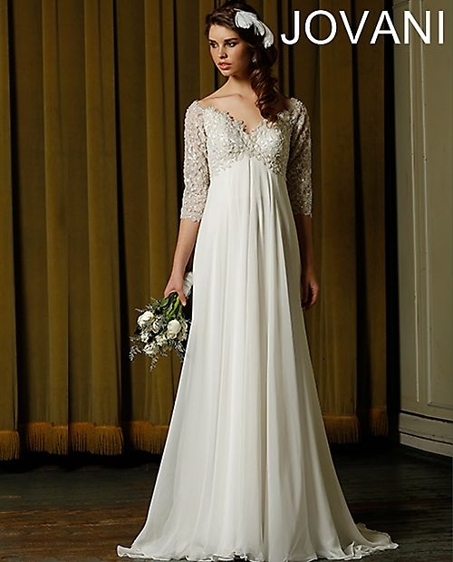 Hochzeit - Long Sleeved & 3/4 Length Sleeve Wedding Gown Inspiration