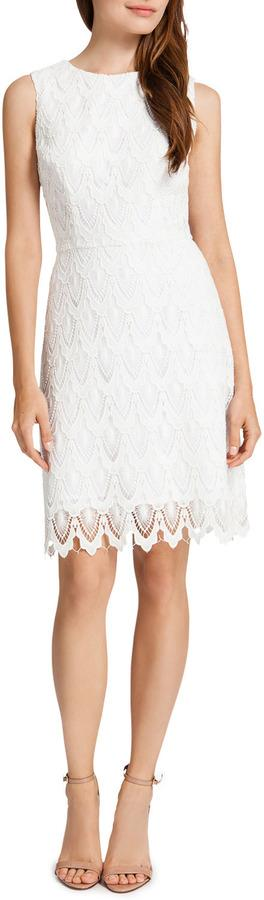 Wedding - Cynthia Steffe Ramsey Sleeveless Lace Sheath Dress, Lilly White