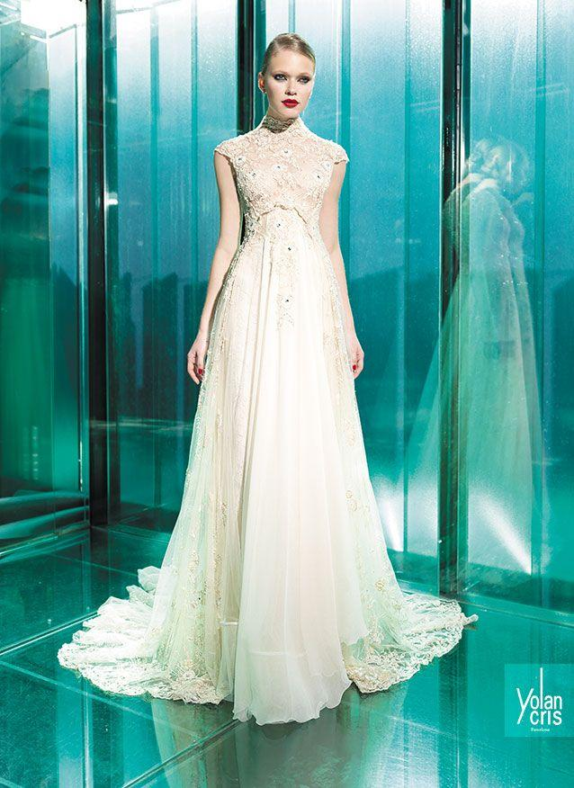 Short Sleeved/Cap Sleeved/Off The Shoulder Sleeves Wedding Gown ...