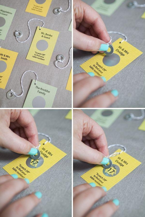 Mariage - Easily Make Your Own 'scratcher' Escort Cards!!!