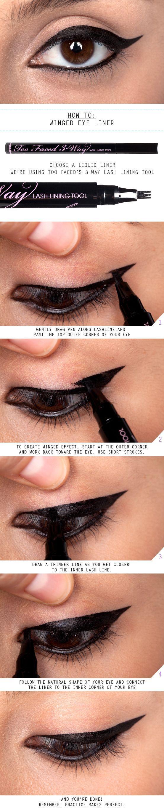 Свадьба - How To Do Winged Eyeliner