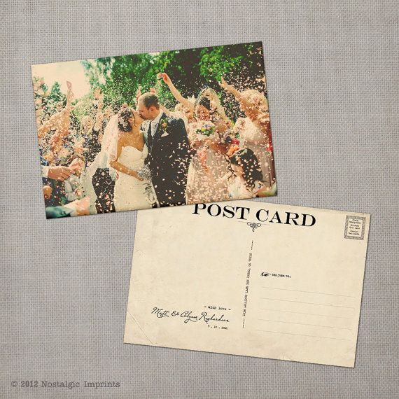 Vintage Wedding Thank You Postcard The Alysse 2187807 Weddbook