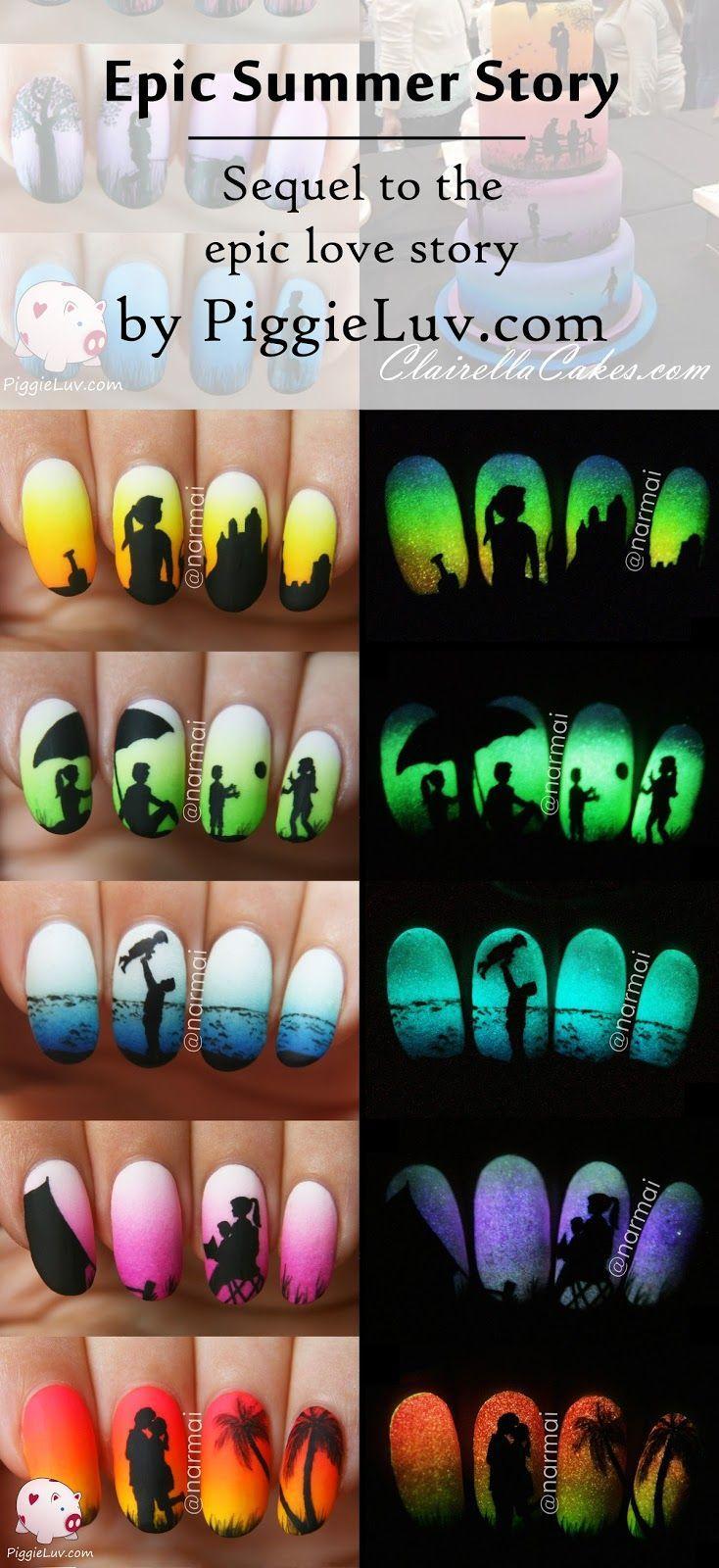 زفاف - Epic Summer Story (5 Glow In The Dark Manis!!!)   Video Tutorial!!!!