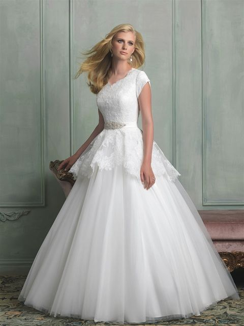 Boda - Short Sleeved/Cap Sleeved/Off The Shoulder Sleeves Wedding Gown Inspiration