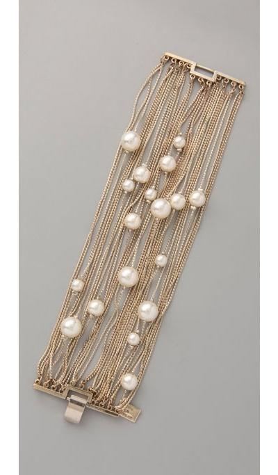 Свадьба - Runway Multi Strand Pearl Bracelet