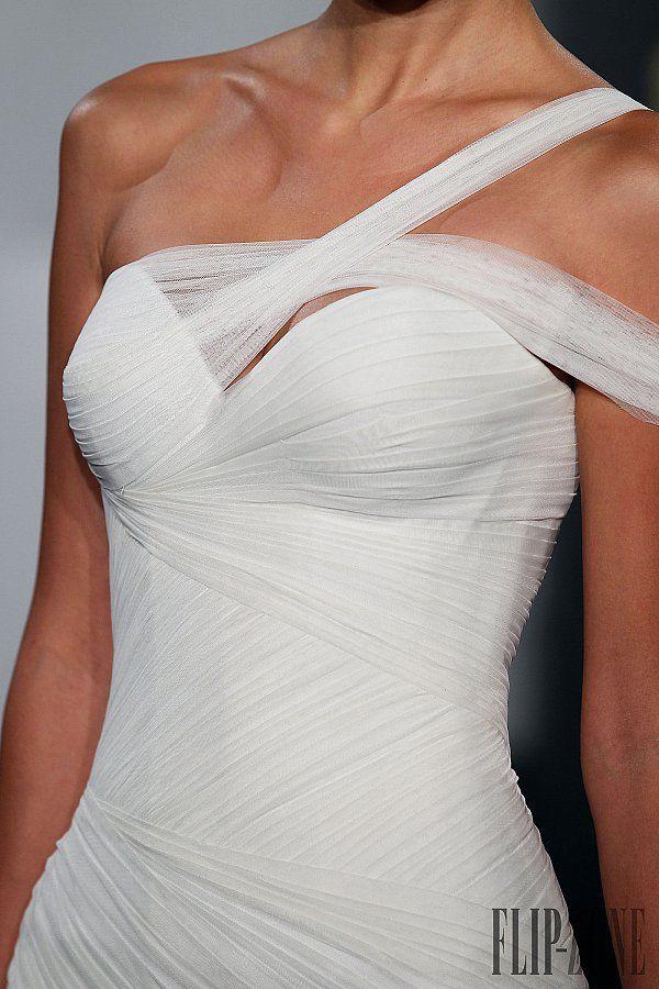 Hochzeit - One Shoulder Strap Wedding Dress Inspiration