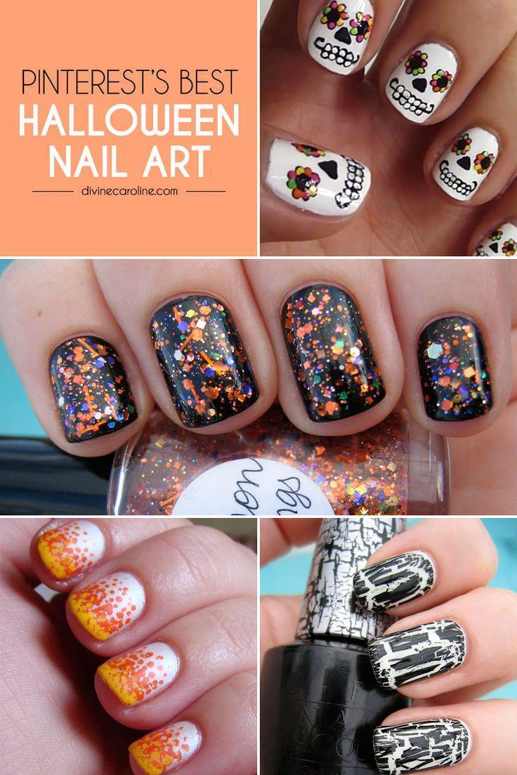 Halloween Pinterests Best Halloween Nail Designs 2189518 Weddbook