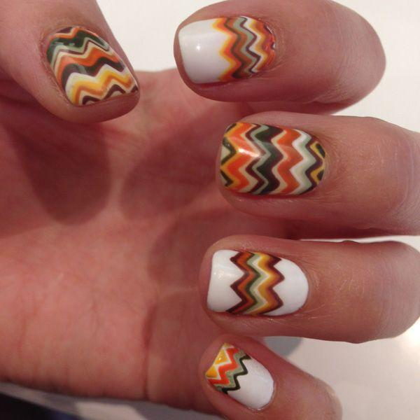Свадьба - Two Amazing Thanksgivukkah Nail Art Manicures You Need To Try