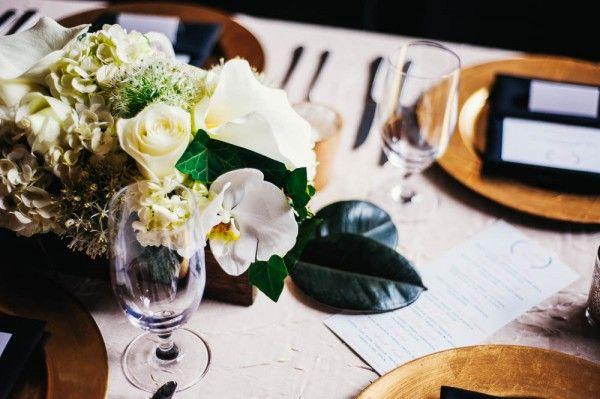 Western white wedding table centerpieces