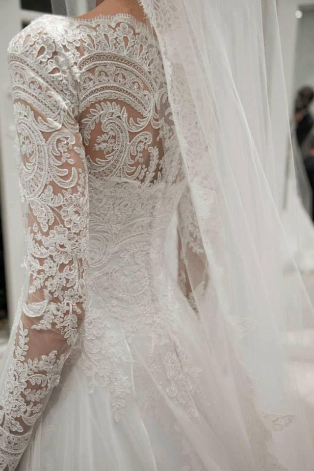 Long Sleeved Amp 3 4 Length Sleeve Wedding Gown Inspiration 2190576