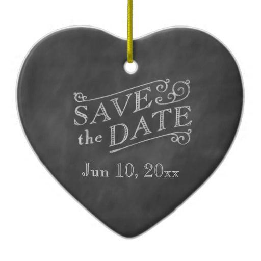 Свадьба - Romantic Heart Save The Date On Chalkboard