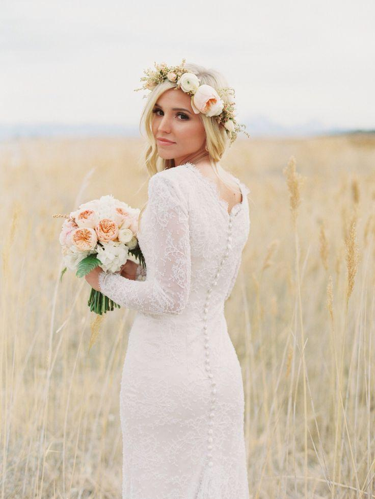 Flower Crowns For Your Wedding Wedding Hairstyles With