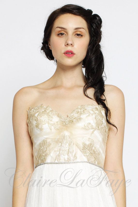 Свадьба - Heart Of Gold - Sweetheart Bohemian Custom Wedding Dress