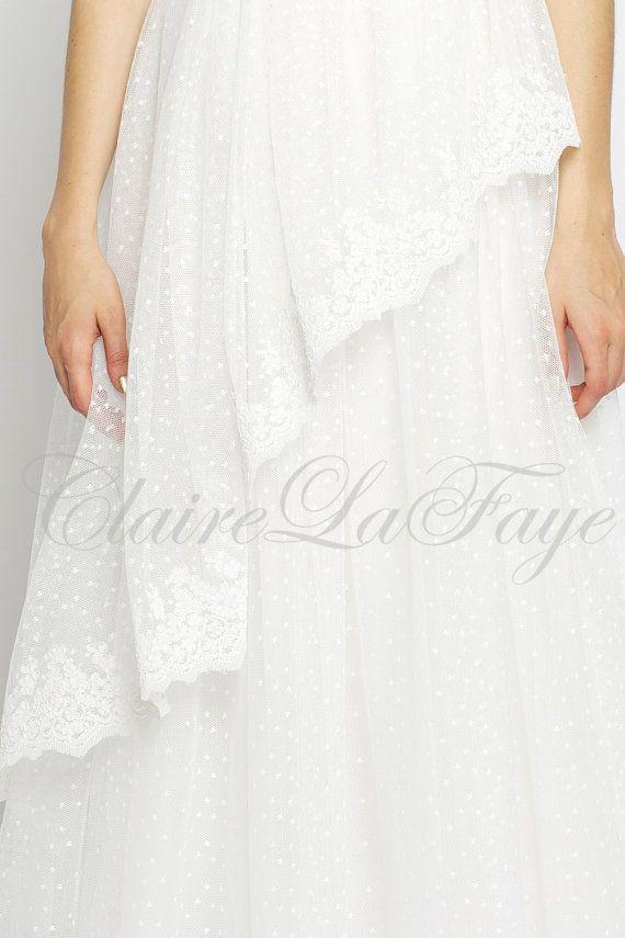 زفاف - Once Upon A Honeymoon - Sweetheart Lace Bohemian Custom Wedding Dress