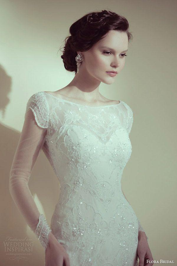 Hochzeit - Short Sleeved/Cap Sleeved/Off The Shoulder Sleeves Wedding Gown Inspiration