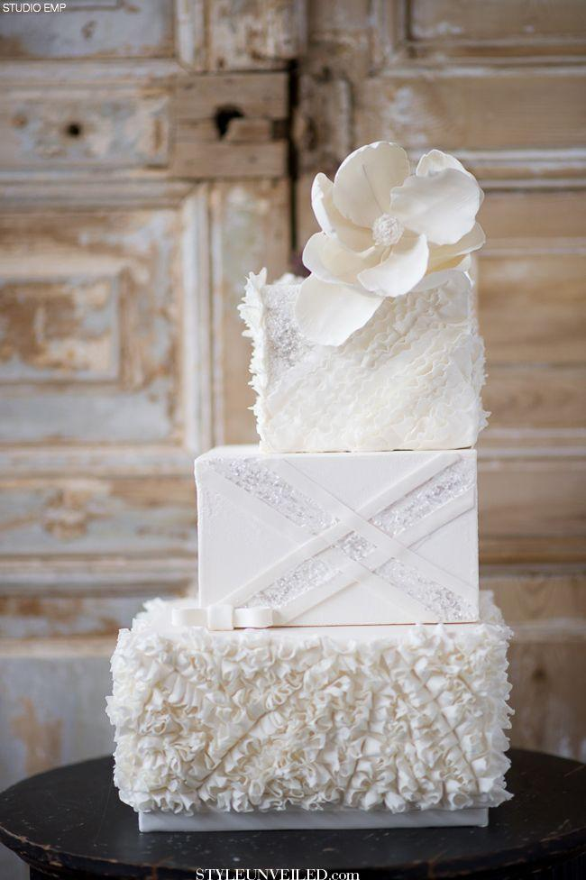 white wedding cake with gorgeous texture and sparkly design 2193156