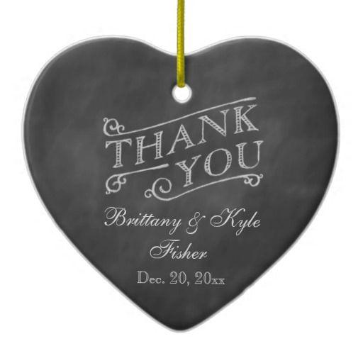 Свадьба - Romantic Heart Thank You On Chalkboard