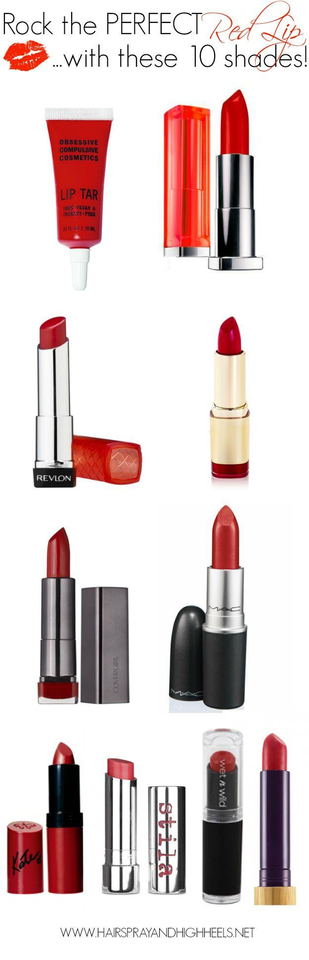 Свадьба - Top 10 Red Lipstick Shades