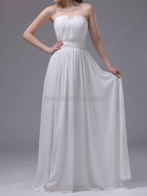 Hochzeit - Chiffon A-line Floor-length Prom Dresses