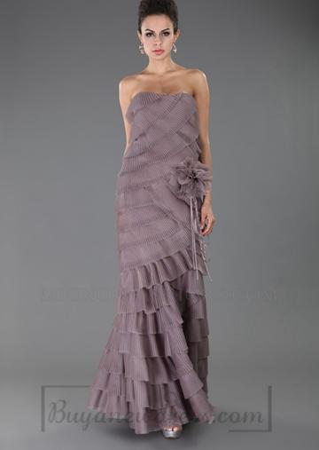 Wedding - Low Back Long Strapless Empire Evening Dress