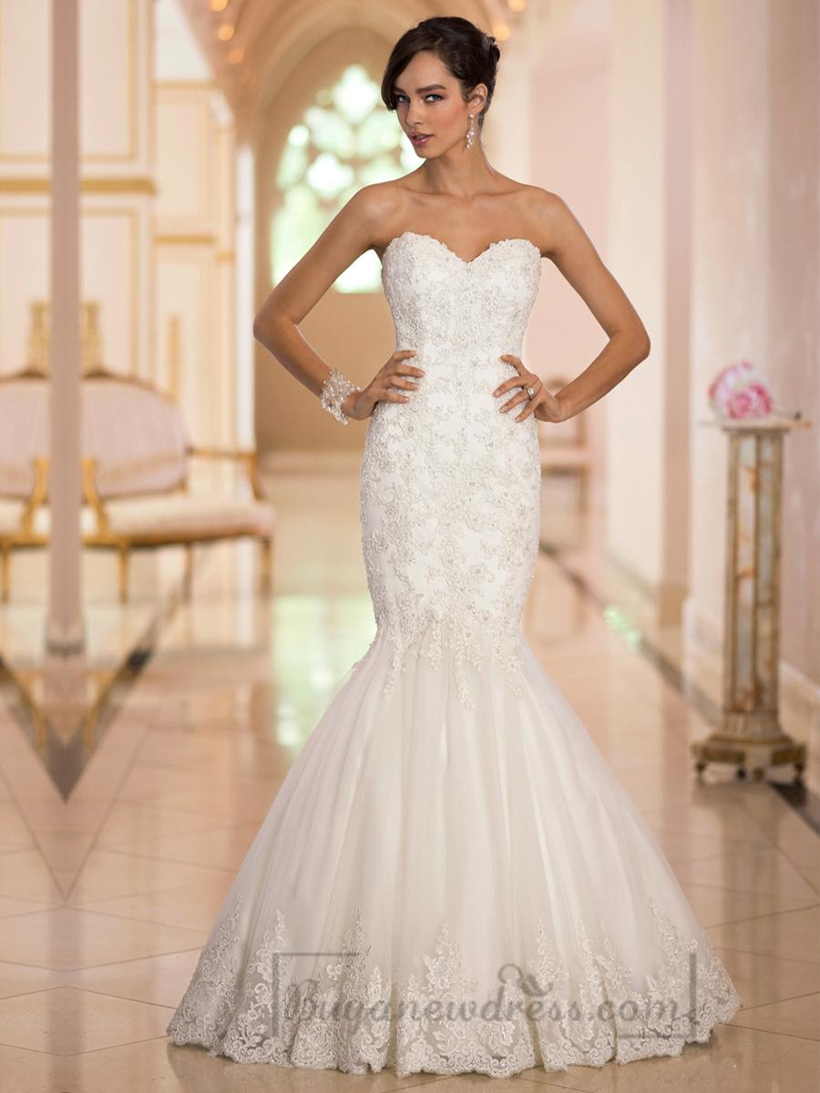 Wedding - http://www.buyanewdress.co.uk/elegant-sweetheart-handcrafted-lace-appliques-mermaid-designer-wedding-dresses-p-2337.html
