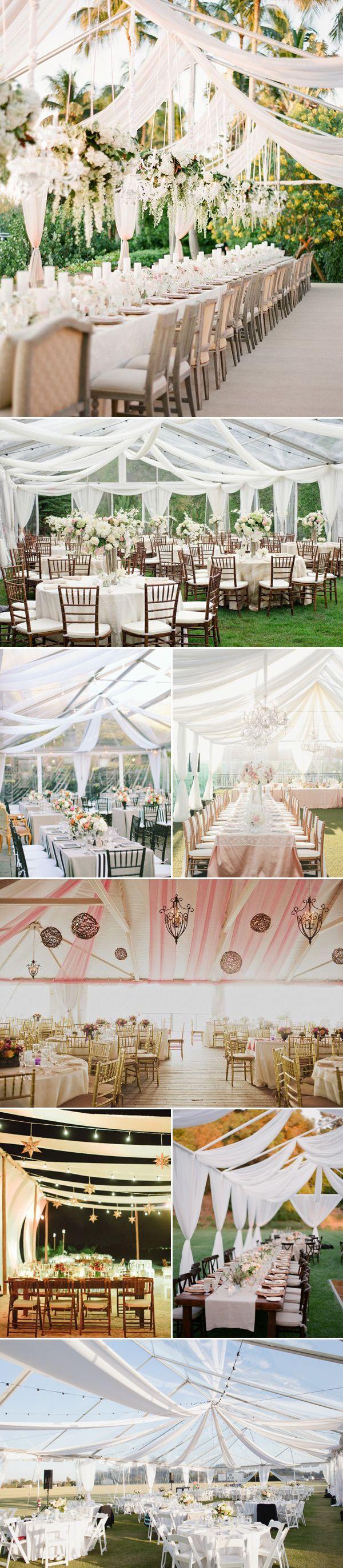 Свадьба - 40 Beautiful Ways To Decorate Your Wedding Tent