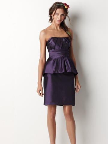 Eggplant Taffeta Dress