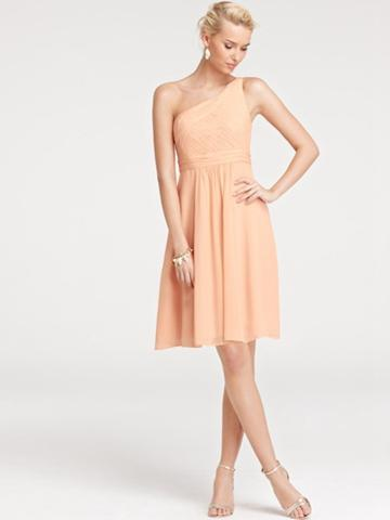 9907bccadb2 Beautifully Casual One-shoulder Knee Length Bridesmaid Dress ...