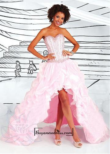 زفاف - Alluring Organza & Satin Sweetheart Neckline Asymmetrical A-line Evening Dress
