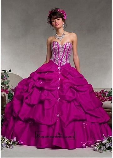 Hochzeit - Alluring Taffeta Sweetheart Neckline Floor-length Ball Gown Prom Dress