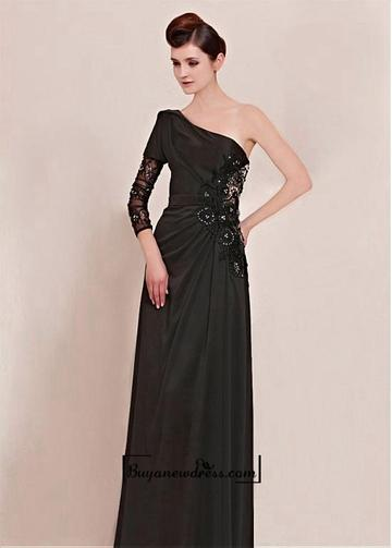 Mariage - Amazing One Shoulder Floor-length Evening dress