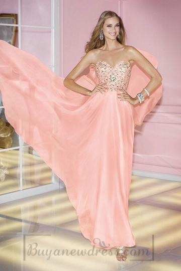Wedding - Empire Zipper A-line Sleeveless Sweetheart Long Appliques Prom Dress