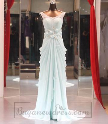 Wedding - Elegant Long Chiffon Evening Dress