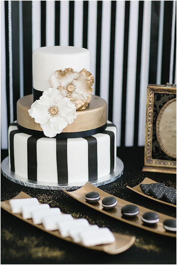 Opulent Black And Gold Wedding Ideas With A Pop Of Pink 2194318