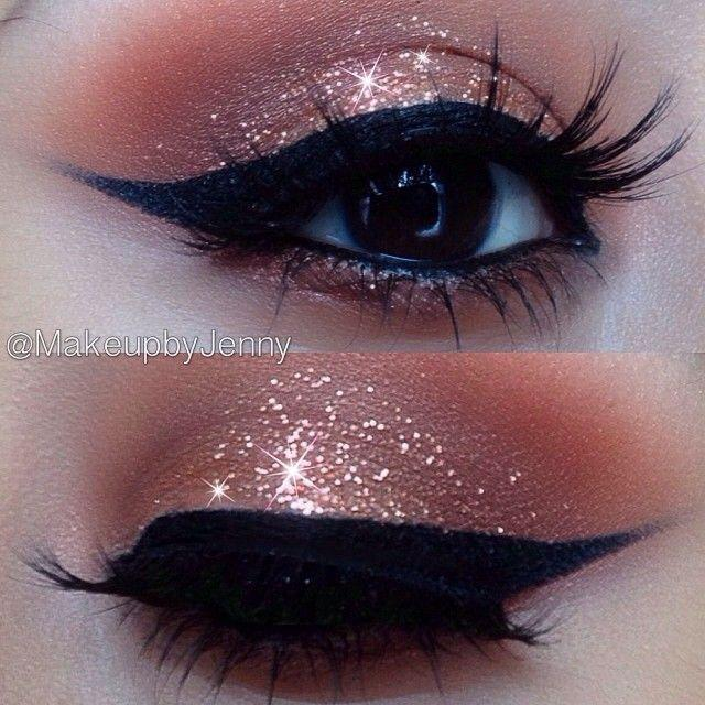 Свадьба - A Collection Of 30 Best Glitter Makeup Tutorials And Ideas For 2014