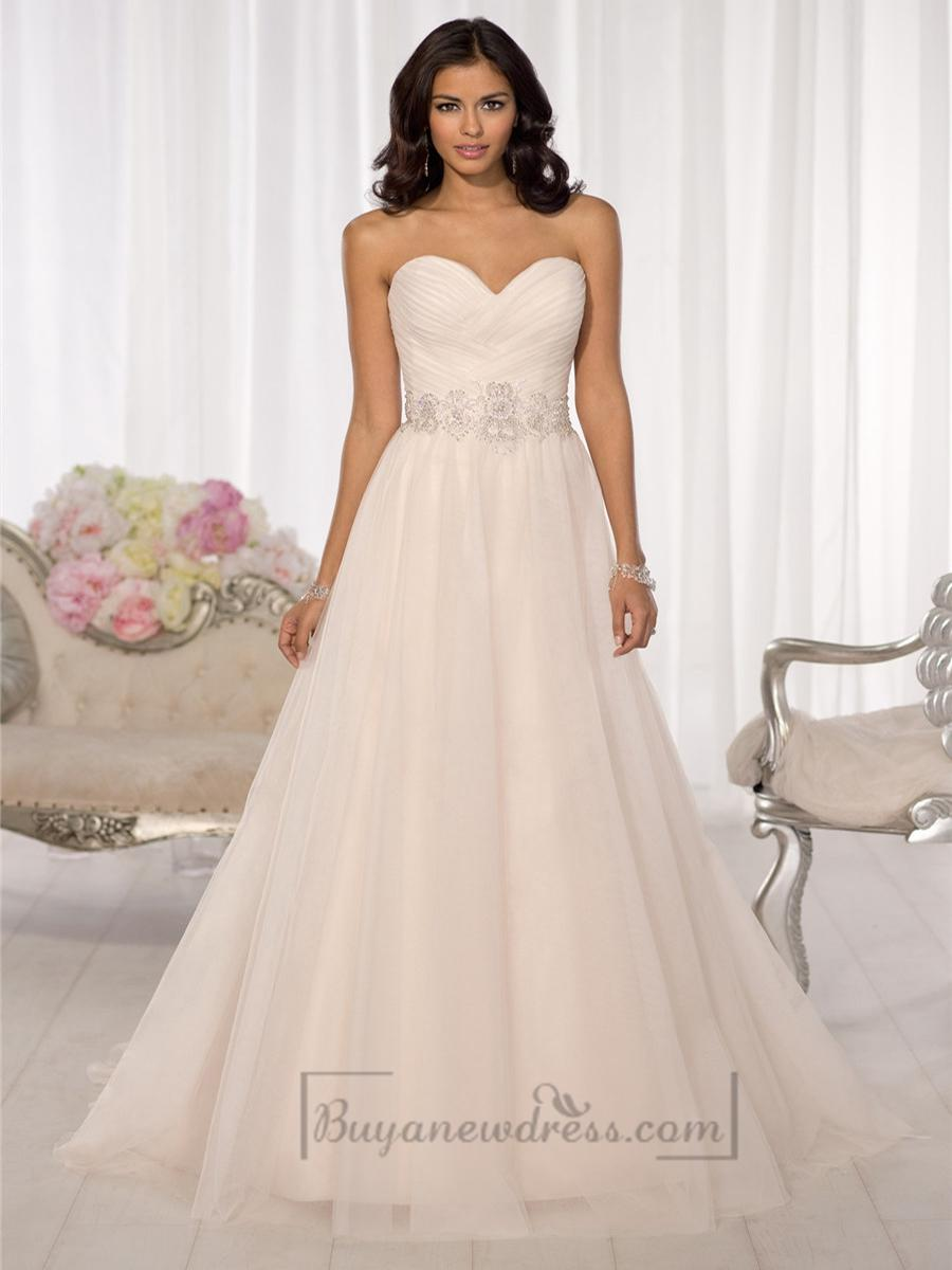 Wedding - Simple Criss-cross Sweetheart A-line Wedding Dresses