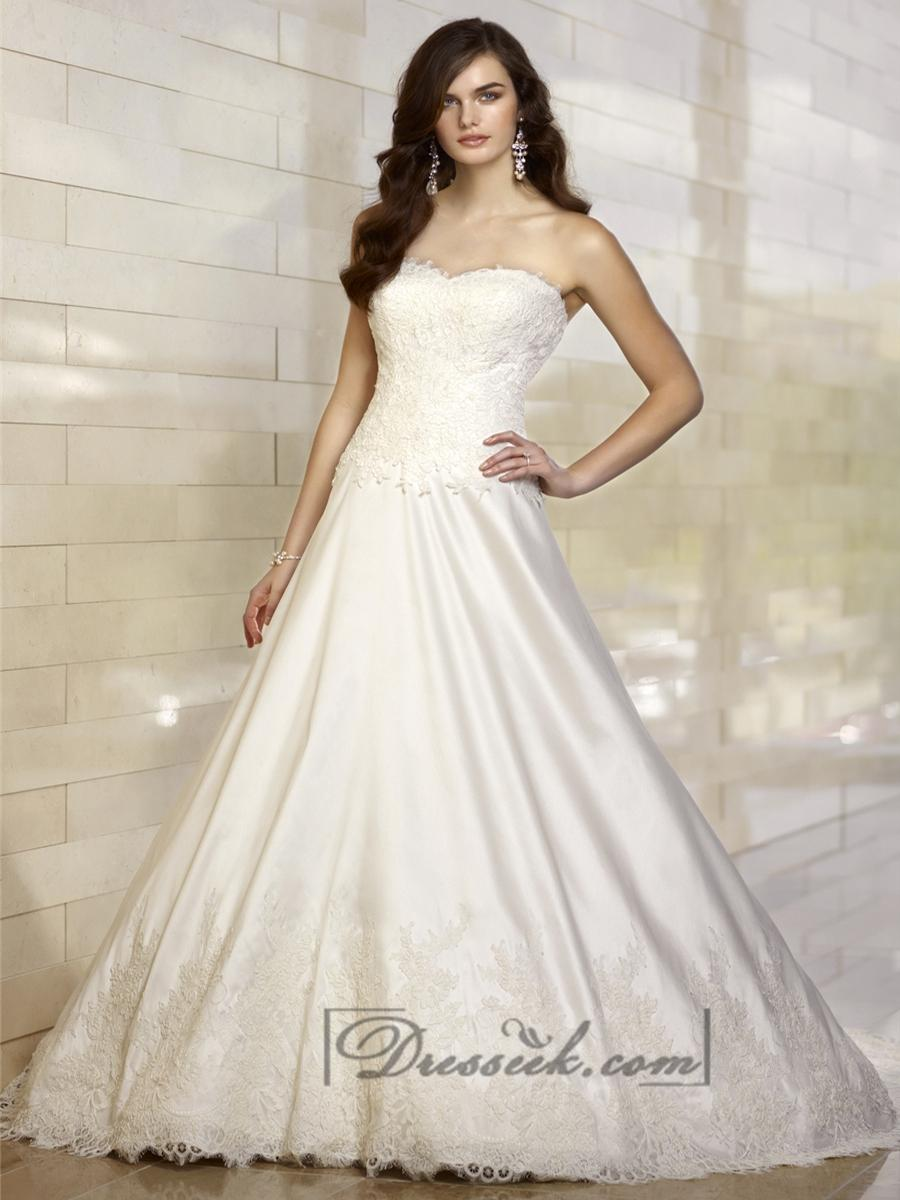 Boda - Elegant A-line Sweetheart Lace Vintage Wedding Dresses