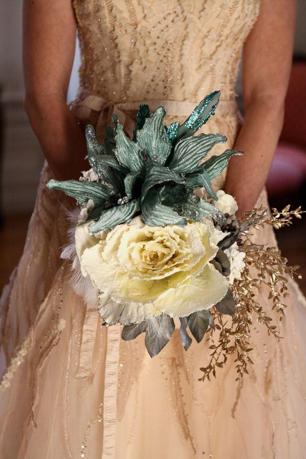 Hochzeit - Mint And Gold Winter Wedding